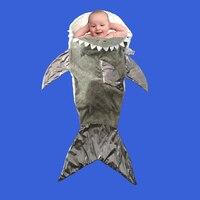 Cute Shark Sleeping Bag Soft Fleece Blanket Fish Kawai Birthday & Christmas Gifts For Kids 3 10 Years Old Dropshipping Available