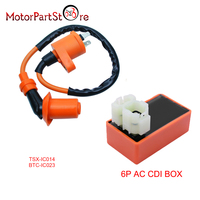 High Performance Ignition Coil And AC CDI For Scooter GY6 Kymco SYM Vento Engine Parts 50CC