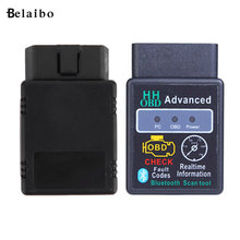 Mini ELM327 V2.1 HH obd2 Advanced OBDII&OBD2 V2.1 Bluetooth Auto Car CAN Wireless Adapter Scanner TORQUE ANDROID Free Shipping