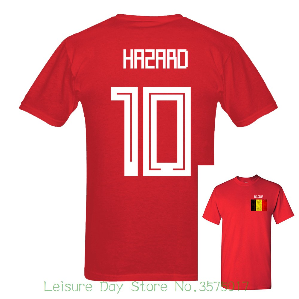 2018 Newest Russia World Match Cup 10 Colors T Shirt Short Sleeve Tee  Selling Belgium Hazard Number 10 Mens Fans Footballer-in T-Shirts from Men s  Clothing ... 92605c896