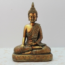 Southeast Asia Golden Home Fengshui Decoration Home Decorative Resin Buddha Ornaments Thailand Furnishing Crafts buddha statue цена 2017