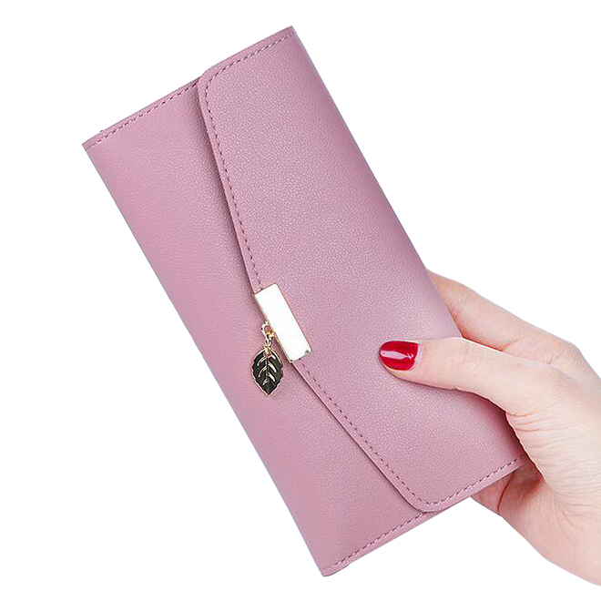 Wallets Lady Coin Purse Moneybags ID Cards Holder Woman Long Leaf Wallet Clutch Handbags Female Purses Bag Pouch Notecase Pocket