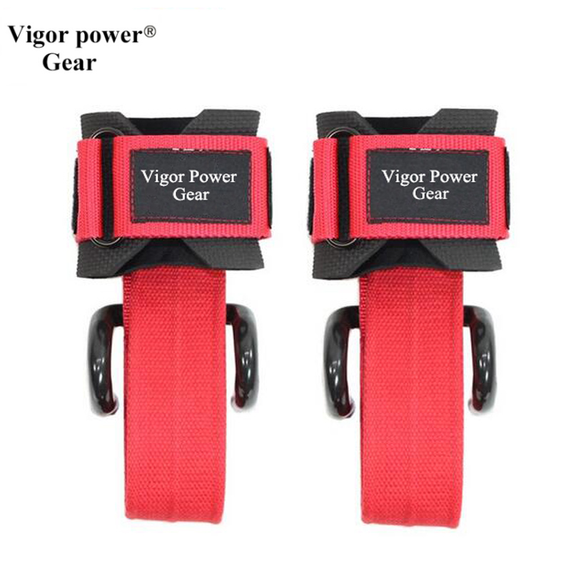 Weight Lifting Hook Weightlifting Training Gym Grips Straps Gloves Wrist Support Weights ...