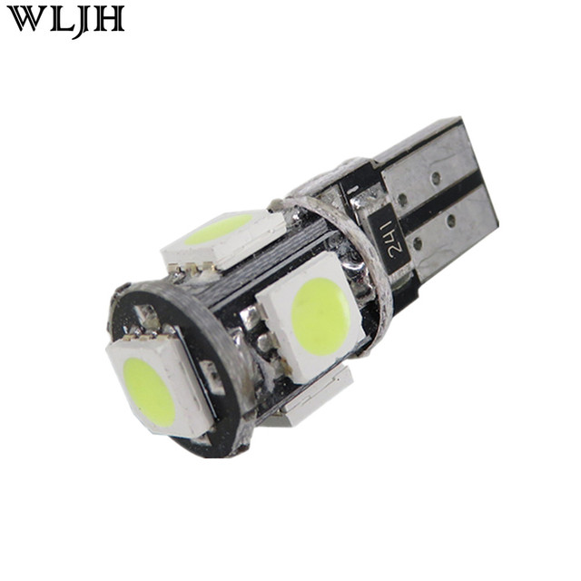 WLJH  4X Canbus T10 5050 SMD 5 LED W5W 194 168 2825 Car Lamp Number Plate License Light Bulbs Side Parking Light