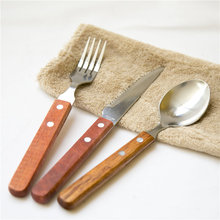Инструменты для барбекю аксессуары для барбекю деревянные ручки для стейка вилка ложка из нержавеющей стали вилка ложка набор