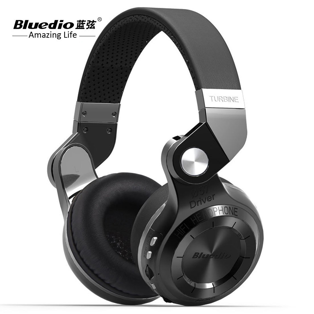 Original Bluedio T2 Stereo headphones Wireless Bluetooth V4.1 +EDR Noise cancelling Headset with mic for Smartphone Tablet PC a01 bluetooth headset v4 1 wireless headphones noise cancelling with mic handsfree earpiece for driving ios android