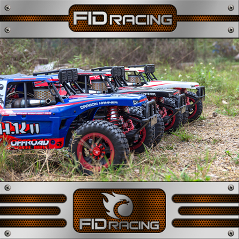 FID Racing 1/5 4WD Dragon Hammer Desert Truck 2.0 Rear Straight Bridge Gas Truck RTR Rc Car 36cc Engine With Two 65kg Servo losi micro desert truck электро синий rtr losb0233t2
