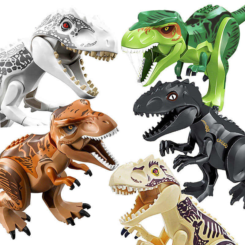 Dinosaur Christmas.Jurassic Dinosaur Diy Assembly Building Blocks Dino Toys Jurassic World Bricks Christmas Birthday Gift Educational Toy