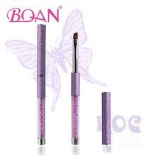 BQAN 2016 New Popular Acrylic Handle Oblique Hair Gel Nail Art Brush Pure Color Hot Sale