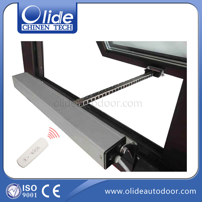 500mm Travel Distance Motorized Casement Window Openers (receiver+remote control are included) aluminium alloy material made home automatic window opener receiver remote control are included