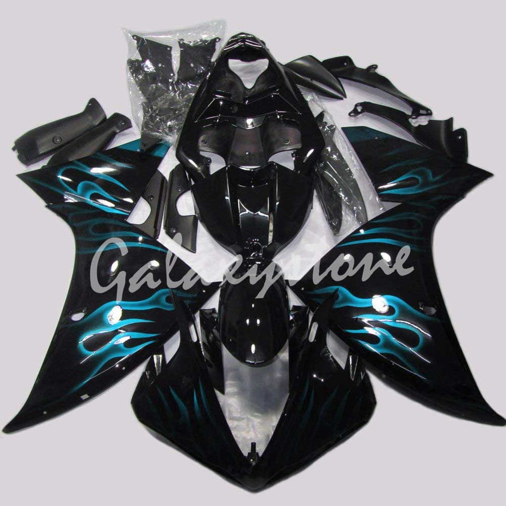 Sky Blue Flame Painted Fairings Fit for Motorcycle 2009 2010 2011 2012 2013 Yamaha YZF R1