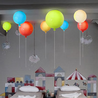 Modern Hanging Lamps Colorful Balloon Acrylic Pendant Pull Switch Round Decorative Gift Kids Child Bedroom Living Room Lights