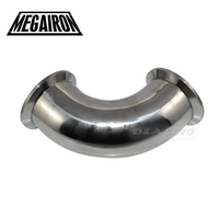 51MM 2 Sanitary Ferrule Elbow 90 Degree Pipe Fittings Tri Clamp Stainless Steel SS316
