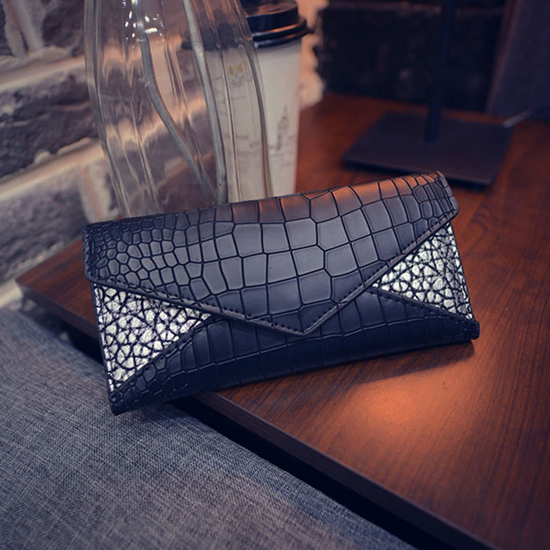 Women Wallets Fashion Alligator Pattern Design Casual Purses PU Leather Woman Long Wallet Crocodile Cards Holder For Young Girls