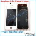 ЖК и сенсорный экран Goophone I5 X400HH-416Z-C K40CN24-1031D-1N ЖК-Дисплей С Сенсорным Экраном для iPhone 5s поддельные клон Бесплатная Доставка