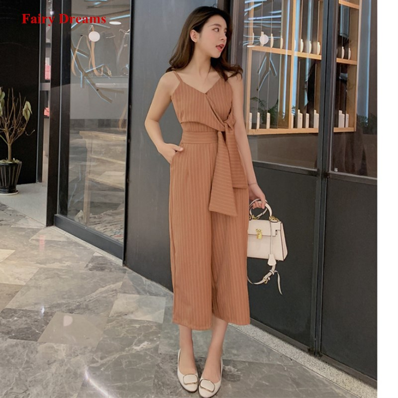 Sexy Jumpsuits For Women Dark Blue Striped Strapless Pants Ladies Fashion Clothing 2019 New Style Bandage Elegant Rompers 1