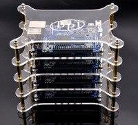 Lo nuevo de la Buena calidad de cuatro capas de Acrílico claro del caso/Caja compatible con Plátano Pi M1, M1 +, M2, M3 Junta