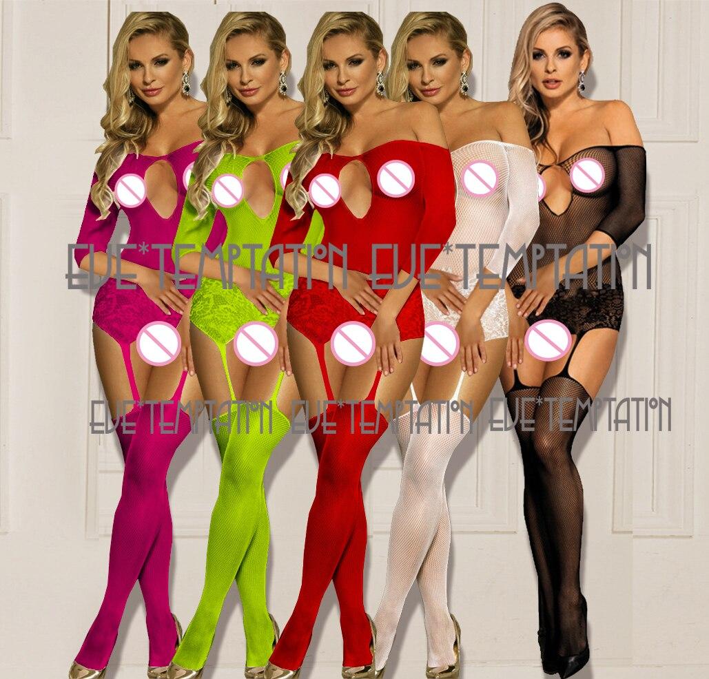 HOT Sexy minidress crochet Fish Net Lingerie Babydoll dress Underwear Catsuit costumes Erotic Porn sleepwear Nightgown A502