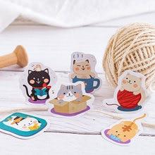 45 Pcs/box kawaii house cat paper sticker DIY decoration stickers diary photo album scrapbooking planner label