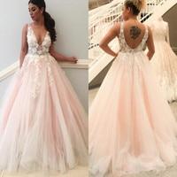 Princess Wedding Dresses 2019 Flowers Bridal Wedidng Party Dress Plus Size robe de mariee A Line Bridal Gown vestido de novia