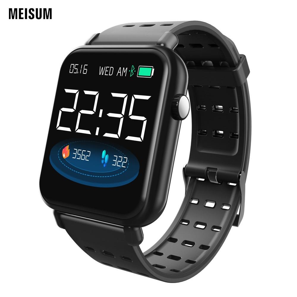 MEISUM Y6Por sport Fitness Bracelet Message rappel montre intelligente sang 24 h fréquence cardiaque Tracker horloge montres intelligentes pour hommes