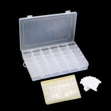 Plástico bordado fio ponto cruz organizador caixa de armazenamento com 120 bobinas fio dental & 800 número de fio adesivos diy ferramenta costura