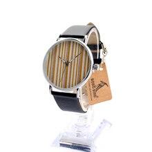 BOBO B24 de AVES de Metal Caja de Acero Relojes Casual Banda De Silicona Suave Con Cara Del Dial de Reloj de Cuarzo Para Hombres de Las Mujeres de madera Como Regalo En Caja
