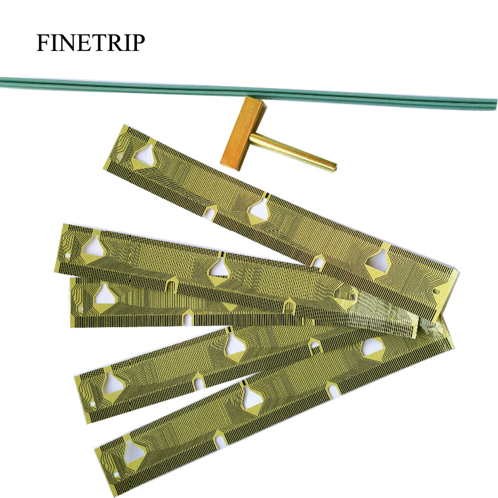 FINETRIP 25% 5x Dashboard LCD Dead Pixel Cluster Repair Ribbon Cable For BMW  E39 Speedometer E38 E53 X5 / 1 T-Tip Rubber Strip