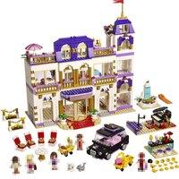 10547 Przyjaciół Serii Heartlake Grand Hotel Model Building Blocks Oświecić DIY Rysunek Zabawki Dla Dzieci Kompatybilny Legoed 01045