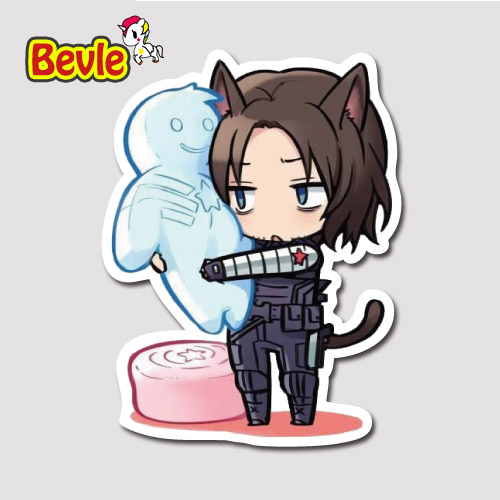 Bevle 9272 Winter Soldier Tide Waterproof Stickers Laptop Luggage Fashion Car Graffiti Cartoon 3M Sticker блуза mango блуза
