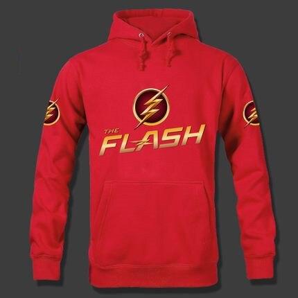 Fashion Autumn Winter Men The Flash Hoodie Bart Allen Cosplay Costume Hooded Coat Halloween Sweatshirt