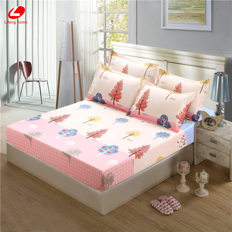 Home textile bed sheet sheet flower mattress cover printing bed sheet elastic rubber bedclothes 180*200cm summer bedspread band 46