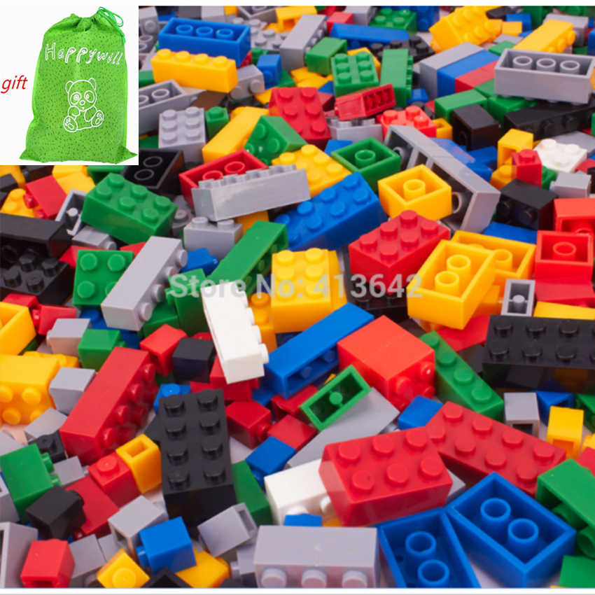Happywill Building Blocks 1000pcs DIY Creative Bricks Toys for Children Educational Toys 100 Compatible Bricks Free
