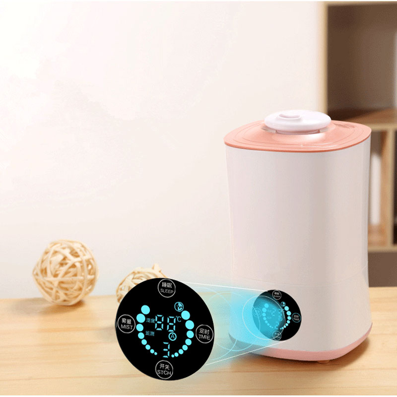 220V Humidifier Touch And Remote Control LED Display Ultrasonic Cool With Filter Humidity Mist Control Timing Water Shortage