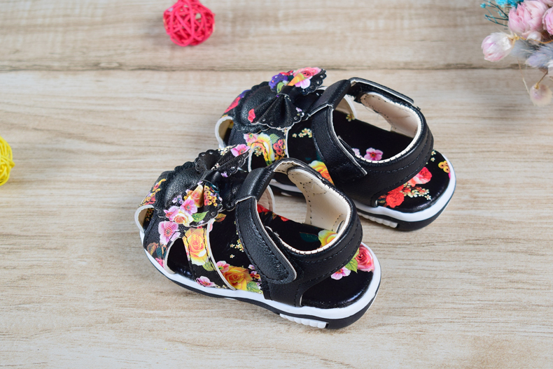 2020 Baby Sandals Newborn Baby Girl Sandals Summer Floral Baby Shoes Fashion Infant Sandals For Girls Leather Baby Shoes 15-25