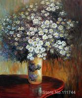 Flower modern art Asters Gustav Klimt paintings living room decor Handmade High quality