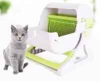 2019 новейший полузакрытый ящик для мусора, тренировочный комплект, товары для домашних животных, большой полуавтоматический кошачий Туалет,