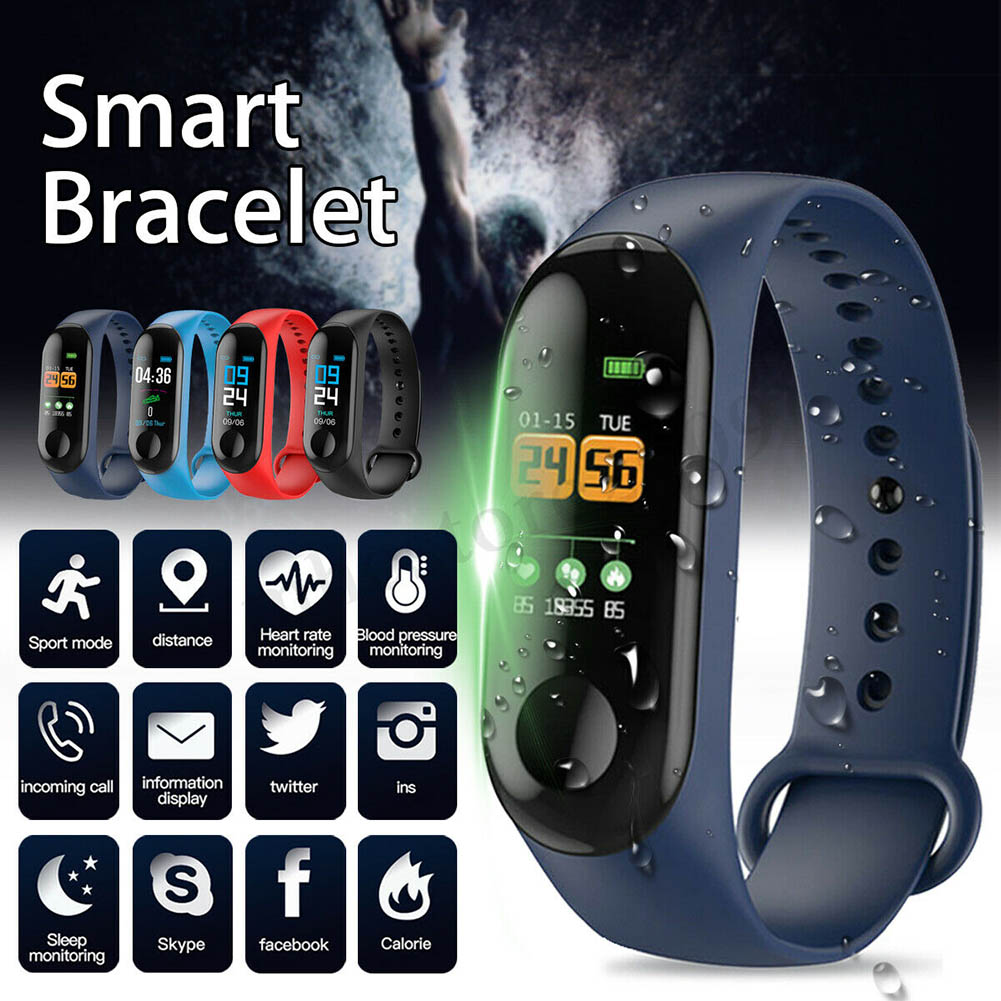 Smart Bracelet Blood 0.96in TFT Screen Fitness Tracker Heart Rate Monitor Waterproof Watch