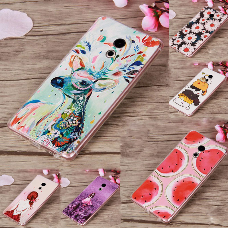 For Coque Meizu Pro 6 Case Soft TPU Silicone Cover 3D Cute Cartoon Animal Cell Phone Cas ...