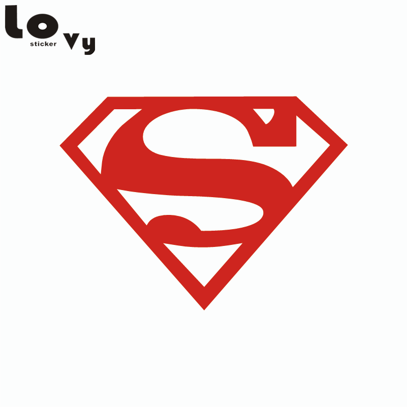 80s Super Hero Superman Wall Sticker for Kids Room Bedroom Home Decor