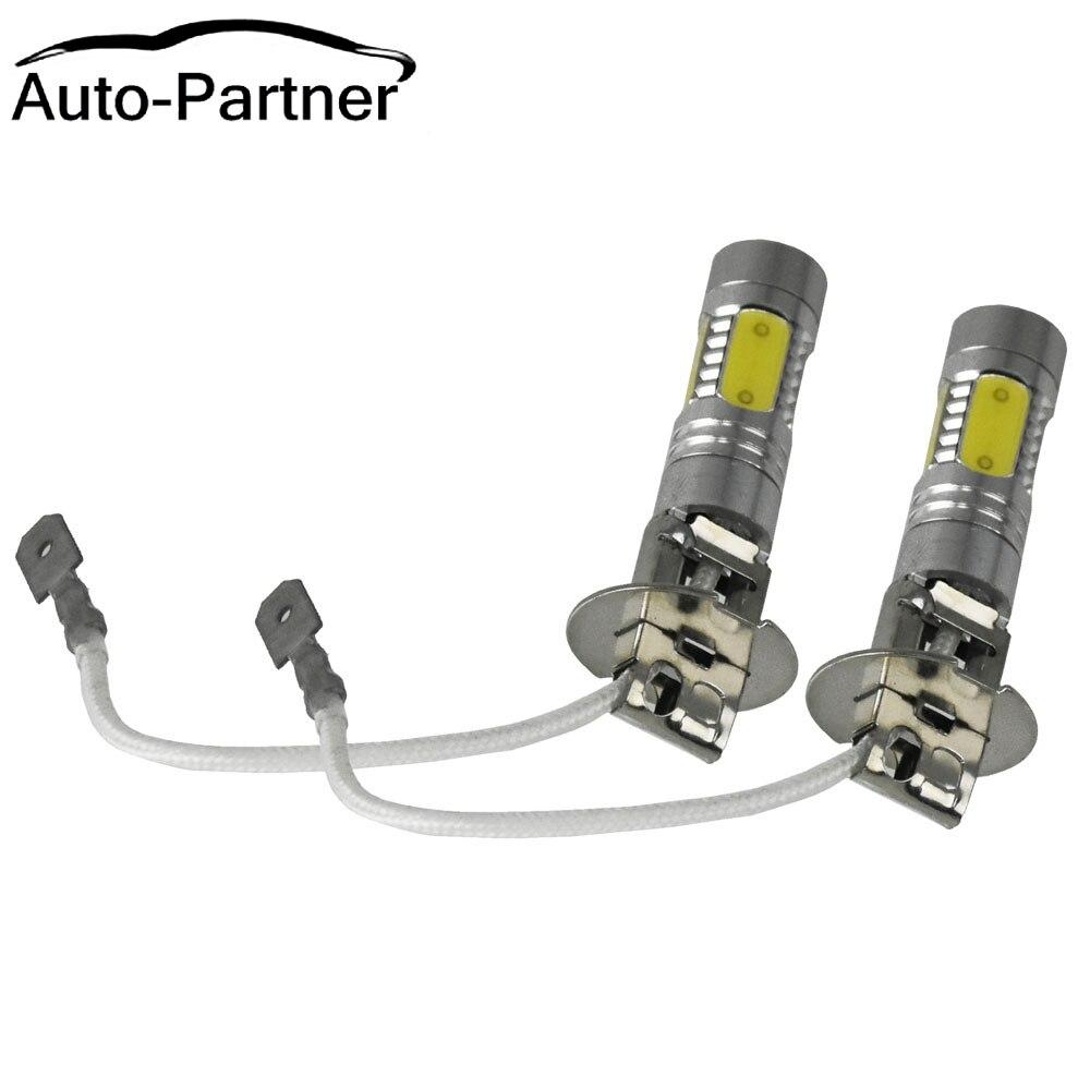 1 Pair White H3 Led Bulb Car Light Driving Fog Headlight Lamp DC 12V