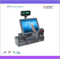 Touch Screen POS System Android Pos System With VFD Customer Display