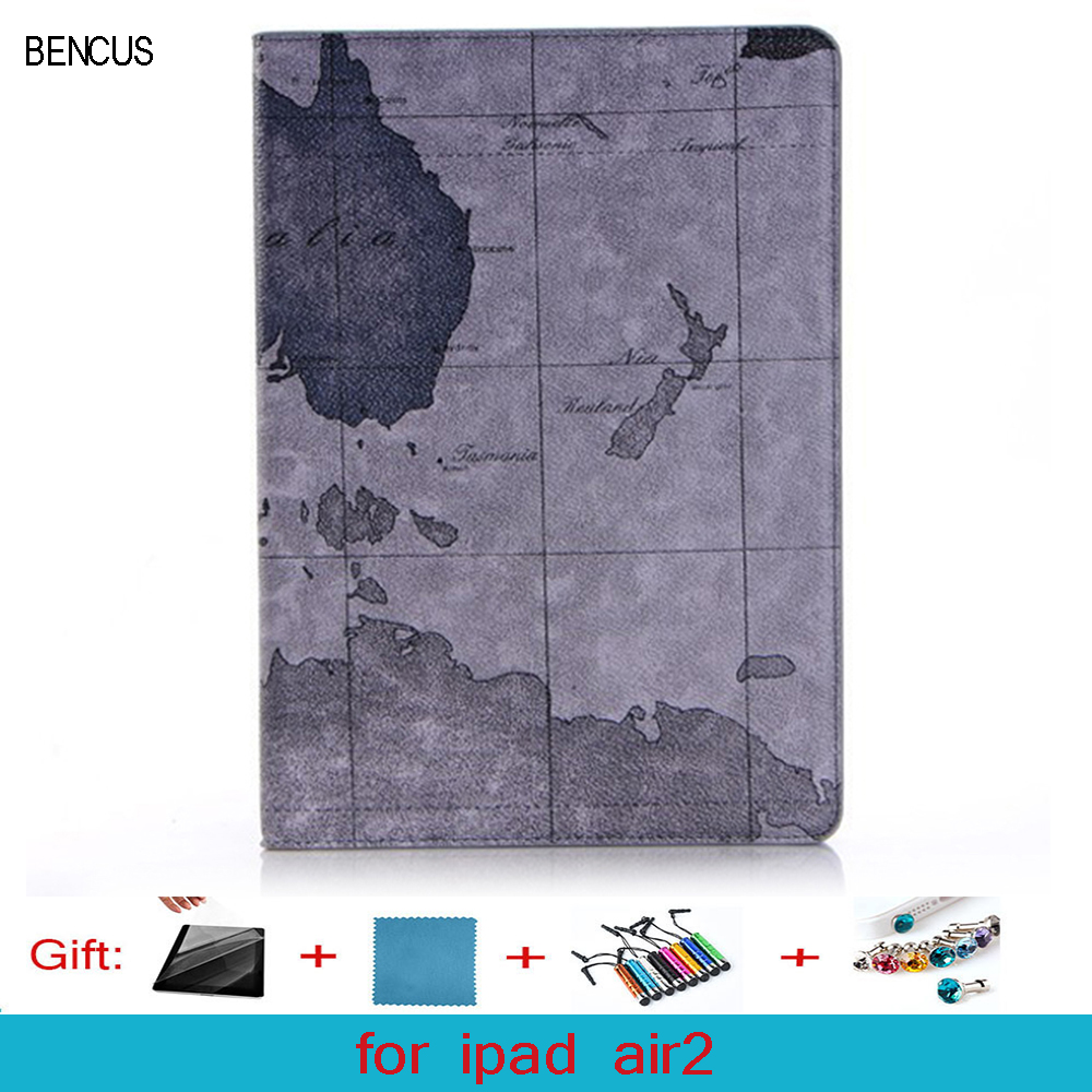 BENCUS ipad Air 2 case Flip PU Leather Stand Cover With Auto Sleep Wake Up Function for ipad Air 2 II ipad air2 Magnetic Flip