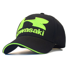 Moto GP Kawasaki Motorcycle Racing Hat Embroideried Baseball Cap Motocross Riding Hats F1 Cap Mens Snapback