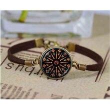 Церковный витражный браслет с мандалой ювелирные изделия Нотр