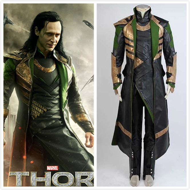 Customized Thor The Dark World Loki Cosplay Costume Whole Sets Cosplay Costume Halloween Party