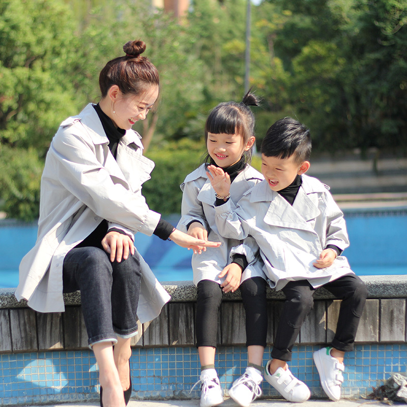 Family Fashion 2018 Mother and Daughter Outerwear 100% Cotton Casual Autumn Coats for Mother & Kids Family Look Casual Jackets fashion mother