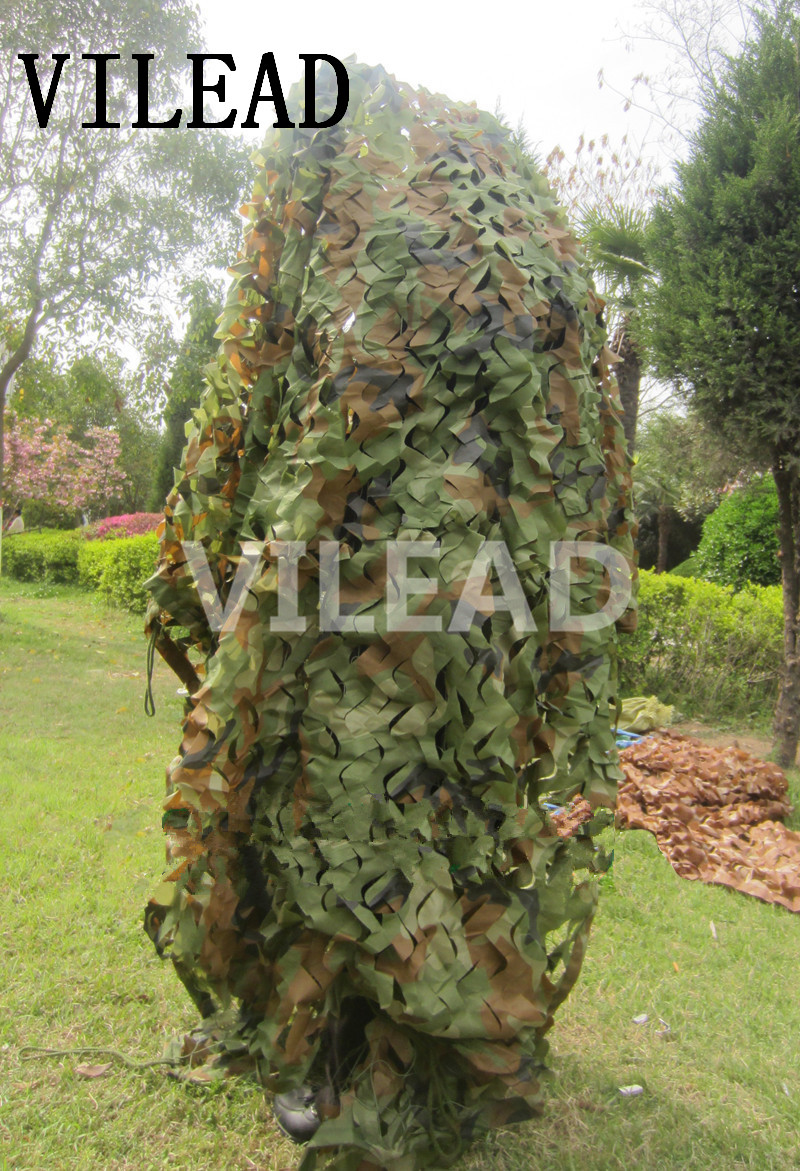 VILEAD 1 5M x 8M 5FT x 26FT Woodland Digital Camo Netting Military Army Camouflage Net Jungle Shelter for Hunting Camping Tent in Sun Shelter from Sports Entertainment