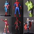 The Avengers Hulk Thor Deadpool Iron Man Figura de Acción DEL PVC Modelo Colección de Juguete de Regalo IronMan Capitán América superhéroe Spiderman