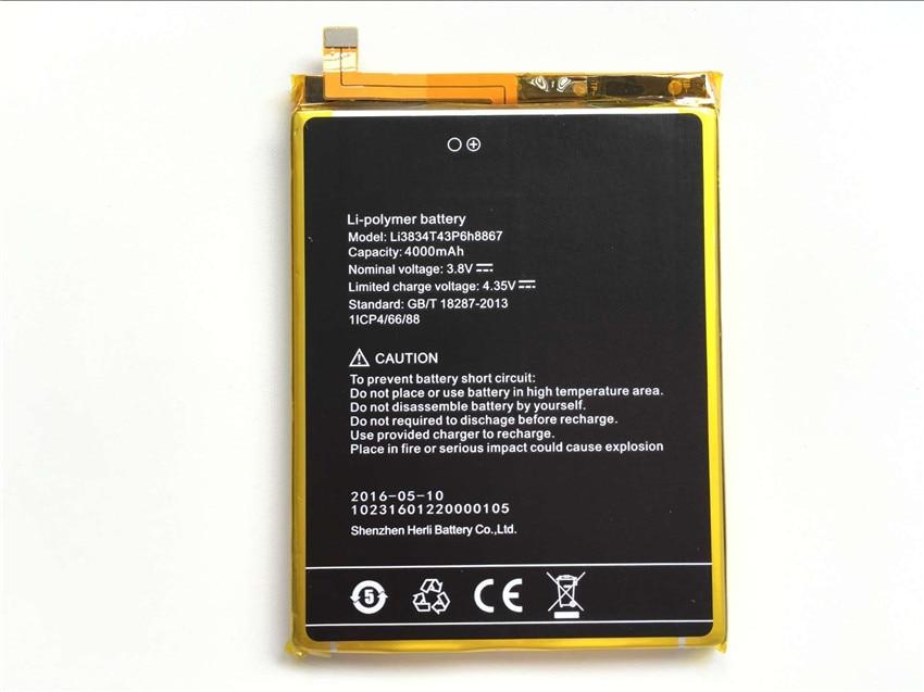 <font><b>UMI</b></font> супер Батарея li3834t43p6h8867 Новый высокое качество 4000 мАч литий-ионная Батарея для <font><b>UMI</b></font> супер смартфон